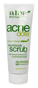 Alba Botanica - Natural Acnedote Face & Body Scrub - 8 oz. (pack of 3)