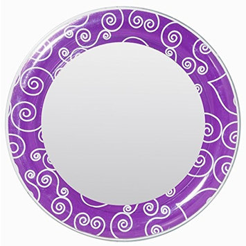 3C4G Magnetic Locker Mirror, Purple Scroll