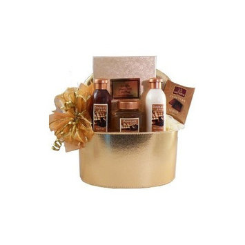 Chocolate Truffle Spa Bath and Body Gift Basket [Multiple Delivery Options]