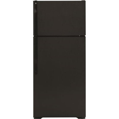 Hotpoint 28 in. W 18.1 cu. ft. Top Freezer Refrigerator in Black HTS18BBEBB