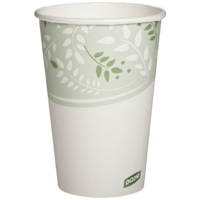 Dixie 2346PLA EcoSmart Hot Cups, Paper w/PLA Lining, Viridian, 16oz (Case of 1000)