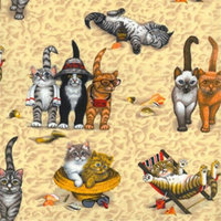 Plant Pattern Covers Sandy Cat Plant Patten Cover, Extra Large