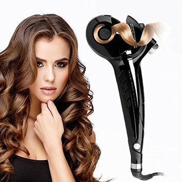 Diglot Automatic Hair Curler Ceramic Steam Spray Iron Hair Wands LED Digital Display -Black