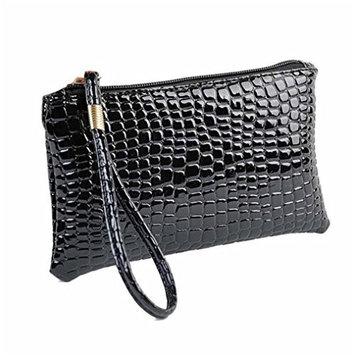 HP95(TM) Women Crocodile Leather Clutch Zipper Wallet Phone Handbag Coin Purse Travel Cosmetic bag