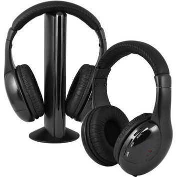 Ematic EH157 Wireless Headphones and Transmitter - Black