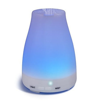Raislife Essential Oil Diffuser, 100ml Aroma Essential Oil Cool Mist Humidifier with Adjustable Mist Mode,Waterless Auto Shut-off and 7 Color LED Lights Changing for Home Office Baby