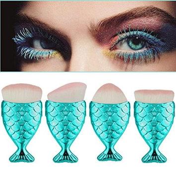 Makeup Brush, Lookatool Fish Scale Makeup Brush Fishtail Bottom Brush Powder Blush Makeup Cosmetic Brush