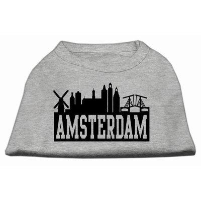 Mirage Pet Products 5167 XXLGY Amsterdam Skyline Screen Print Shirt Grey XXL 18