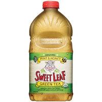 Sweet Leaf USDA-Certified Organic Iced Tea, Mint and Honey Green Tea 64-ounce plastic bottles (Case of 8)
