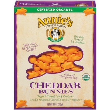 Annie's Homegrown Organic Cheddar Bunnies 11 Ounce (Pack of 12)