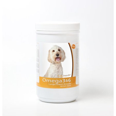 Healthy Breeds 840235143390 Labradoodle Omega 3 & 6 Skin & Coat Soft Chews - 120 Count