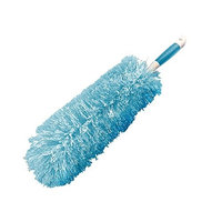 Everclean Microfiber Fluffy Duster with Comfort Grip Handle, Aqua/White (6052)