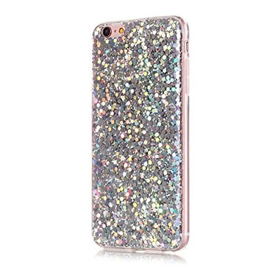 For iPhone 6 Plus / iPhone 6s Plus Case, Ultra Slim Bling Glitter Shiny Soft TPU Silicone Anti Scratch Protective Back Case Cover Protector Shell