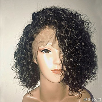 Trebellar Glueless Short Curly Lace Front Wigs with Baby Hair Curly Bob Wigs for Black Women Human Hair Glueless Lace Wigs with Natural Hairline Pre Plucked 130% Density 10Inch