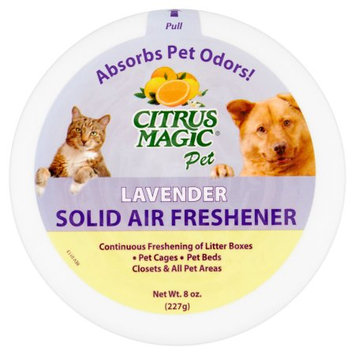 Beaumont Products Citrus Magic Pet 8-Ounce Solid Air Freshener, 3-Pack, Lavender