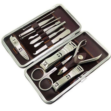 Manicure & Pedicure Nail Clippers set of 12 pcs professional Grooming kit Nail Tools with Luxurims Travel case