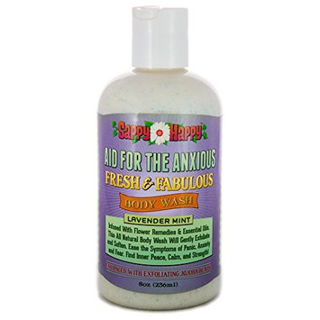 Aid for Anxious Organic Body Wash - All Natural Therapy for Anxiety, Panic, and Fears - A therapeutic blend of natural flower remedies and essential oils to help you remain calm -Lavender Mint (8 oz.)