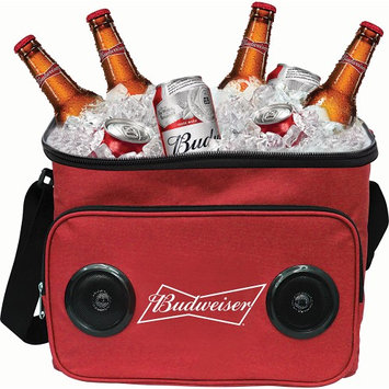 GabbaGoods Budweiser Bluetooth Cooler Speaker Budweiser Red - GabbaGoods Travel Coolers