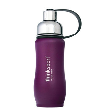 Thinksport Insulated Sports Bottle, Coated Purple, 12 Oz (350ml)