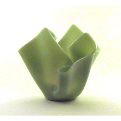 Vase Candle Mint Green Opalume Reusable Glass Vase and a Spring Rain Half Candle (Pack of 2)