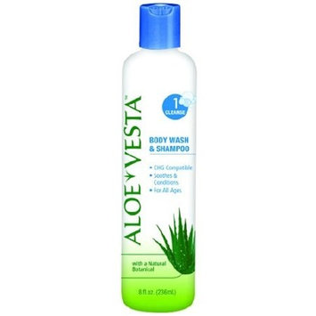 Shampoo and Body Wash Aloe Vesta 8 oz. Bottle Scented #324609 (Pack of 12)