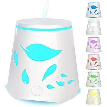 Essential Oil Diffuser 7 Color Changing Led Lights - Portable Ultrasonic Cool Mist Aromatherapy Oils Humidifier - Auto Shutoff Best Aroma Diffusers For Home Office Kids and Spa up to 800 sq ft room