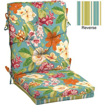 Arden Companies Better Homes and Gardens Outdoor Tufted Dining Chair Cushion, Bright Floral