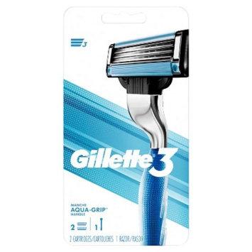 Gillette3 Men's Razor - 1 Handle + 2 Razor Blade Refills