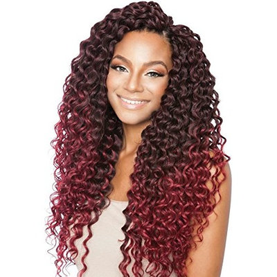 Mane Concept Pre Stretch Long Curly Crochet Hair Tiara Wave (T1B/27 - Off Black/Honey Blond)