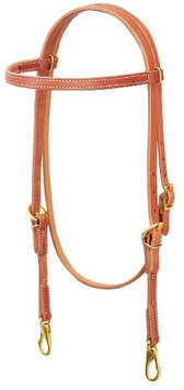 Weaver Leather Single-Ply Browband Trainer Headstall