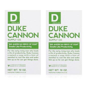 Duke Cannon Men's Bar Soap - 10oz. Big American Brick Of Soap - Smells Like Productivity (2 Pack)