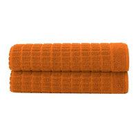 Berrnour Home Pure Cotton Collection 100% Authentic Towels Luxury Bath Math Towel, Orange
