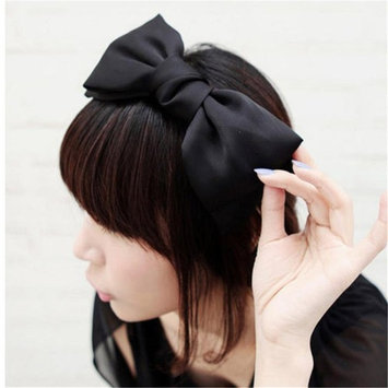 HuaYang|Sweet Korean Style Big Bowknot Hair Band Bow Headband(Black)