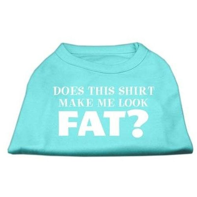 Mirage Pet Products 5124 LGAQ Does This Shirt Make Me Look Fat? Screen Printed Shirt Aqua Lg 14