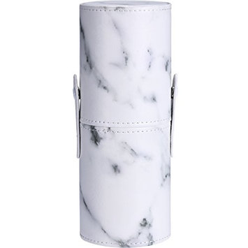 TOODOO PU Leather Marble Pattern Portable Makeup Brush Holder Cosmetics Make Up Cup Storage Organizer Case