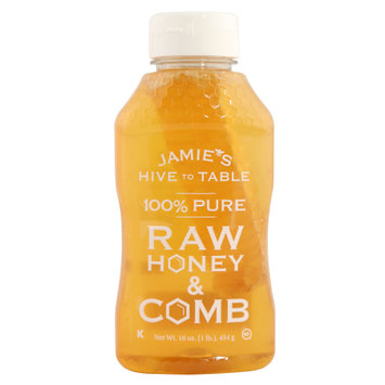 Jamie's Hive to Table 100% Pure Raw Honey & Comb