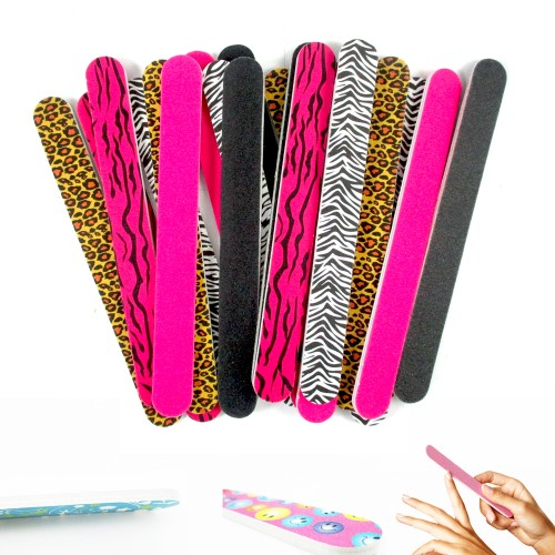 Atb 24 Double Sided Nail File Emery Board Manicure Pedicure Assorted Gift Set Design