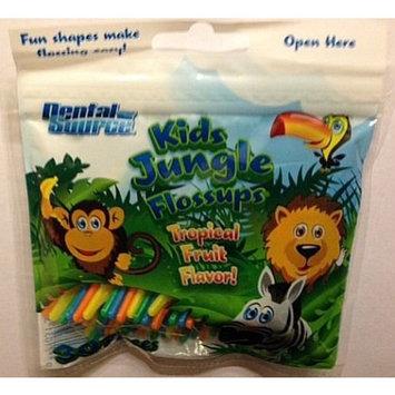 Kids Jungle Flossups Flossers Tropical Fruit Flavor