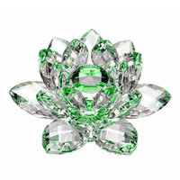 Amlong Crystal Green Crystal Lotus Flower