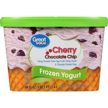 Great Value Cherry Chocolate Chip Frozen Yogurt, 48 oz