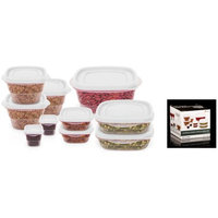 Imperial Home 20 Pc Reusable Plastic Food Storage Containers - Lunch Boxes w/ Air Tight Lids (White)