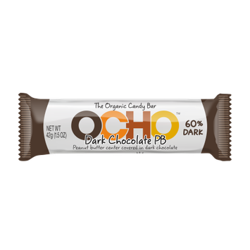 Five Star Organics OCHO Candy Dark Peanut Butter Bar 1.5 oz