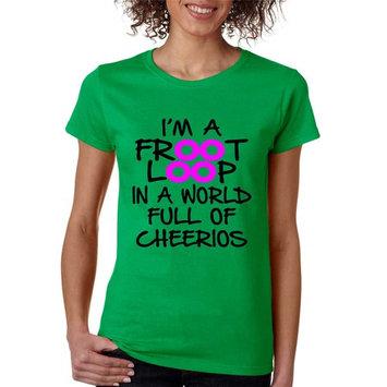 Allntrends Women's T Shirt I'm A Froot Loop Cool Funny Tee (M, Irish Green)