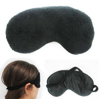 Atb Plush Sleep Eye Mask Silk Travel Shades Blindfold Black Sleeping Cover Eyeshades