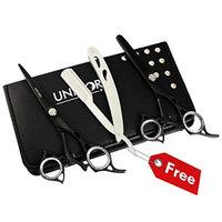 Unicorn Plus Scissors @ Professional Razor Edge Scissors Set - Thumb Swivel Barber Hair Cutting Scissors/Shears - 6.5