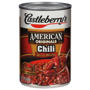Castleberry 1800 15 Oz. Chili With Beans Soup Case Of 12