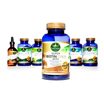 Super Biotin Gold 5000 Improves Hair Growth. Supports Stronger Nails & Better Skin Has Been Shown to help reduce bad Cholesterol. Feel Great Look Great Improve your Hair Nails and Skin
