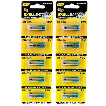 2pc 5pk 23A 12V Alkaline Battery Replaces E23A EL12 GP23A L1028 LRV08 USA SHIP