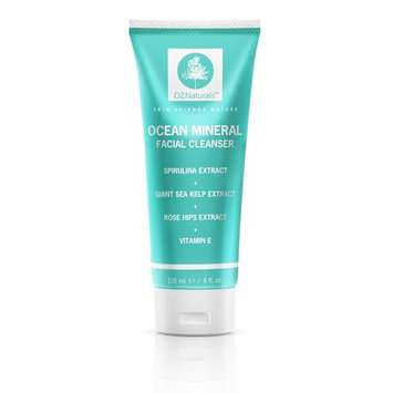 Ocean Mineral Face Cleanser - Daily Facial Wash for Dry, Oily & Sensitive Skin - Fragrance Free - Natural Ingredients Leave Skin Clean, Clear & Moisturized With This Acne Face Wash Skin Care Cream