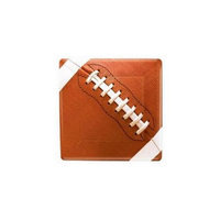 Costumes 203448 Football Fan Square Dessert Plates